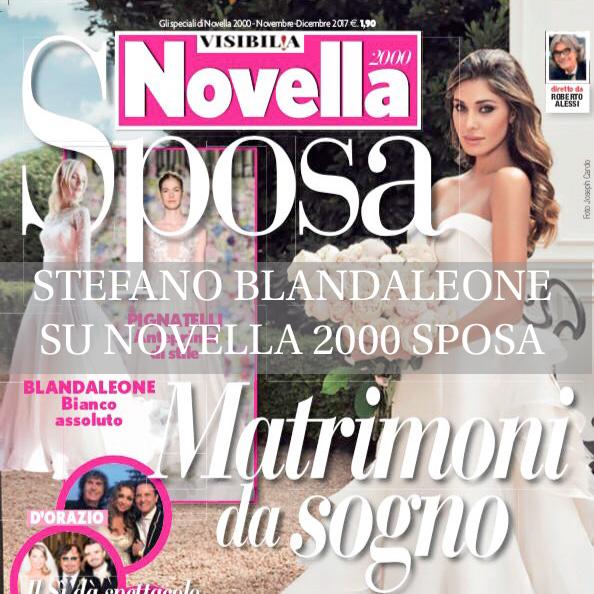Stefano Blandaleone prima pagina Novella 2000 Sposa
