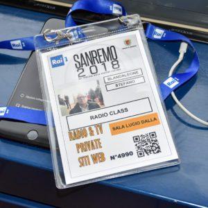 Stefano Blandaleone al 68° Festival di Sanremo