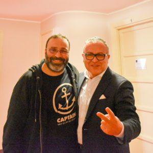 Stefano Blandaleone con Massimiliano Bruno