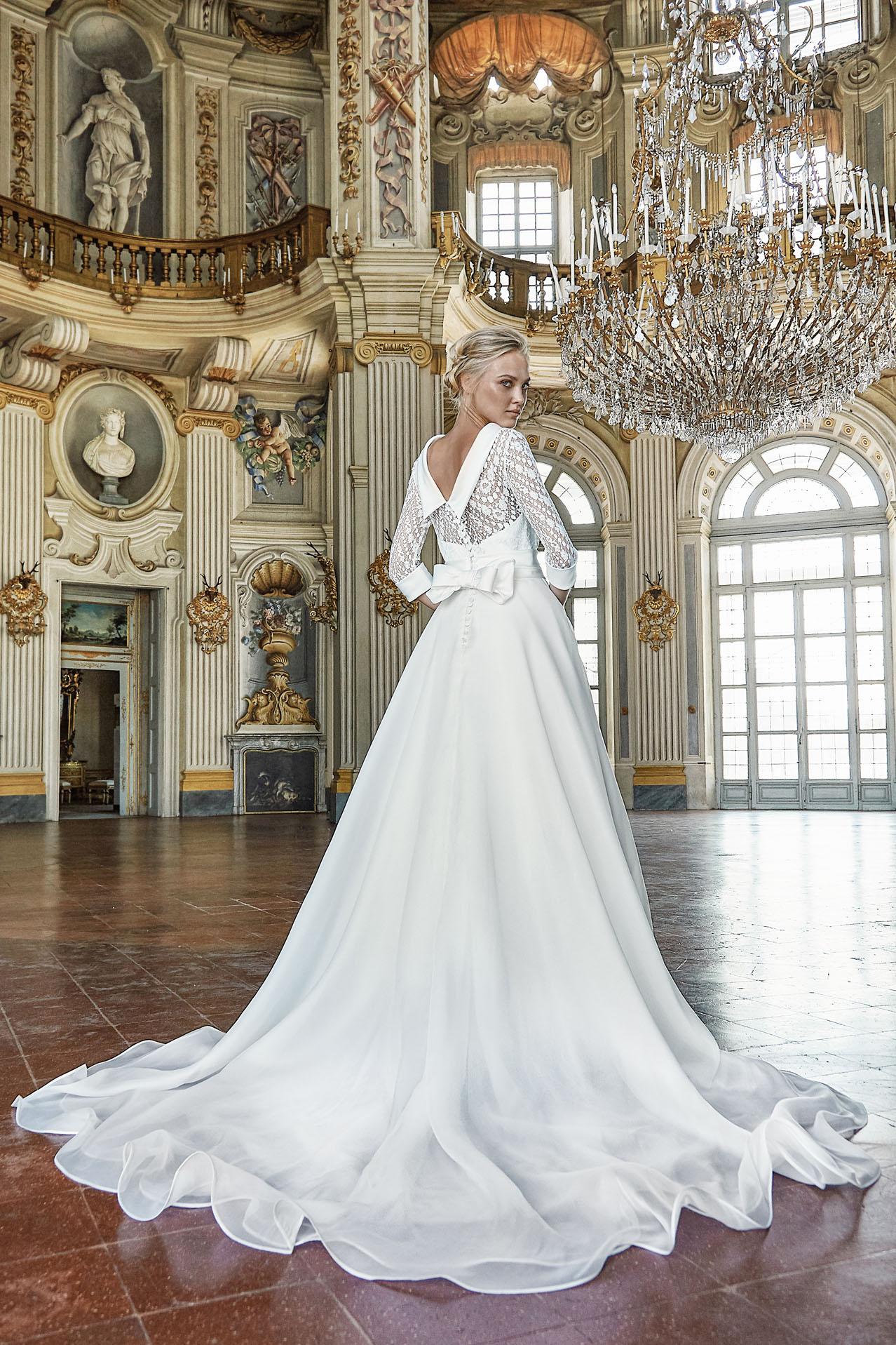 La sposa elegante e raffinata